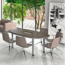 Конференц стіл Evolution MDF 25/403 Вяз Сірий