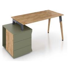 Письмовий стіл дизайнерський Co_d 35-01 Оливковий Salita