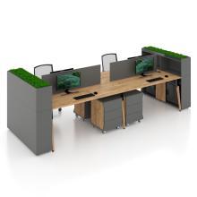 Офісний стіл на 4 особи з перегородкою для open space Co_d 35-6