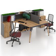 Офисный стол на 2 человека с перегородкой Co_d Salita 35-9