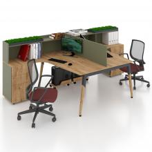 Офісні столи з перегородкою на двох Co_d 35-10
