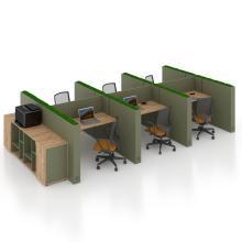 Офисный стол на 6 человека с перегородкой Co_d 35-14