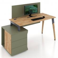 Комп'ютерний стіл присьмовий для офісу Co_d 35-1