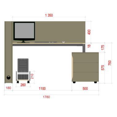 Дизайнерські столи для офісу на двох Co_d 35-16