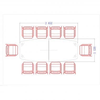 Конференц стол Гранд ДСП 3/602