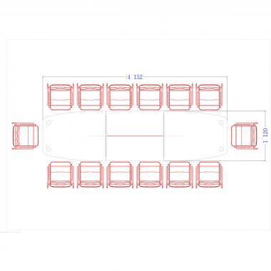 Конференц стол Гранд ДСП 3/603