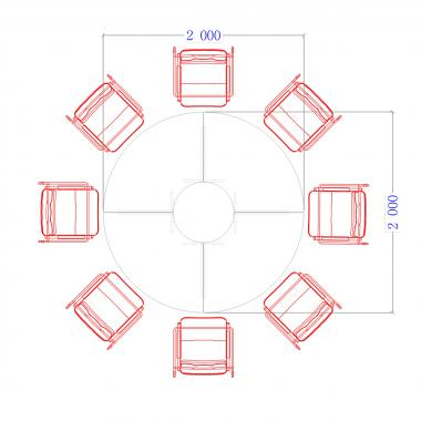Конференц стол Гранд ДСП 3/605
