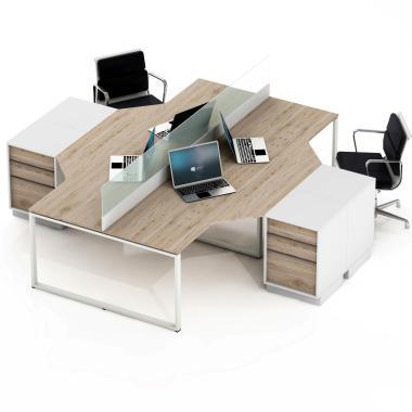 Столи для офісу на 4 робочих місця Promo Q51s