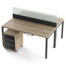 Офисный стол на 2 человека с перегородкой Промо T8s