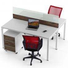Офисный стол на 2 человека с перегородкой Промо T8
