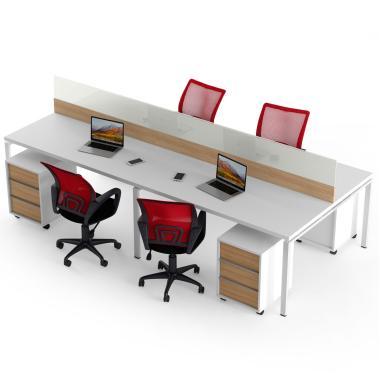 Офісні комп'ютерні столи на 4 місць і тумби Promo T17