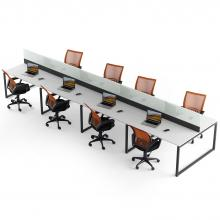 Офисный стол на 8 человека с перегородкой Промо Q12