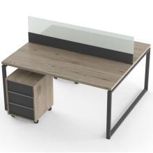 Офисный стол на 2 человека с тумбами и перегородкой Promo Q19s