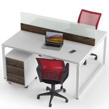 Офисный стол на 2 человека с тумбами и перегородкой Promo Q19