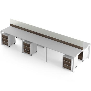 Комп'ютерні столи на 6 місць з перегородкою Promo T29