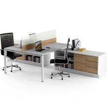 Офисный стол на 2 человека с перегородкой Промо t23