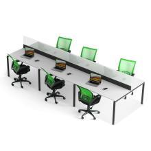 Офісні меблі. Стіл на 6 робочих місць з перегородкою Promo T28