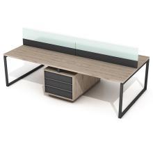 Офисный стол на 4 человека с перегородкой Promo Q22s