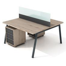 Офисный стол на 2 человек с перегородкой Promo R7s