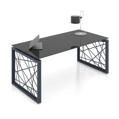 Письмовий стіл офісний Rays Lux 31/201z (180 см)  скло