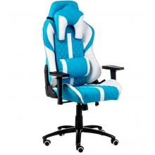 Геймерське крісло  ЕкстрімРейс блакитно-білий E6064 Special4you