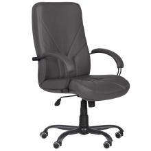 Офісне крісло Менеджер чорний графіт Неаполь АМФ