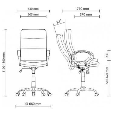Офісне крісло Яппі YAPPI CHR68 Тканина Soro